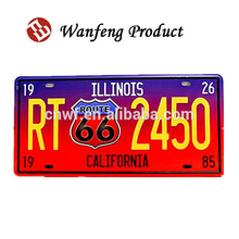 Customized embossed printing metal alumium car number licence plate manufactures