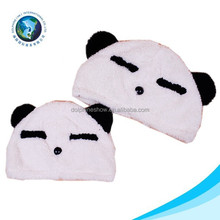 Lovely animal hat real fox fur hats cheap panda plush cap with earflap