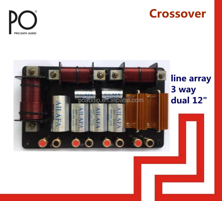 co3212 po audio line array 3 way speaker crossover network