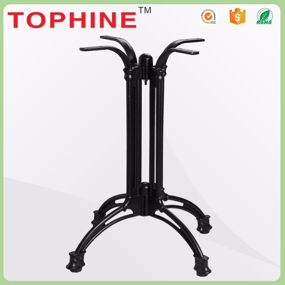 China furniture foot metal lift table base for round glass tops