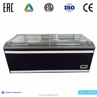 Commercial cake display chiller and supermarket freezer