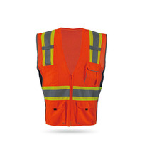 S-5XL highway high vsibility safety luminous vest