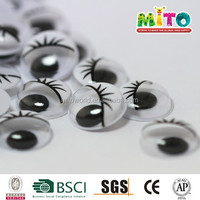 plastic dolls eyes stickers movable eyes PET