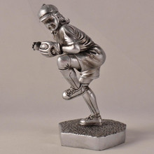 Electrosilvering custom resin softball figure