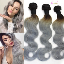 Angelbella Wholesale Body Wave White Hair Extensions Grey Grade 6A Grey Human Hair Weaving