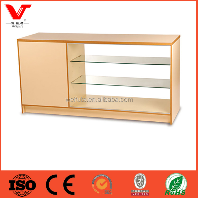 Elegant design shop wooden and glass display counters for sale