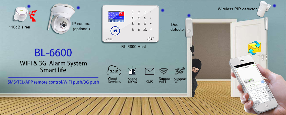 Wireless Anti-burglar 3G WIFI Home Security Alarm System