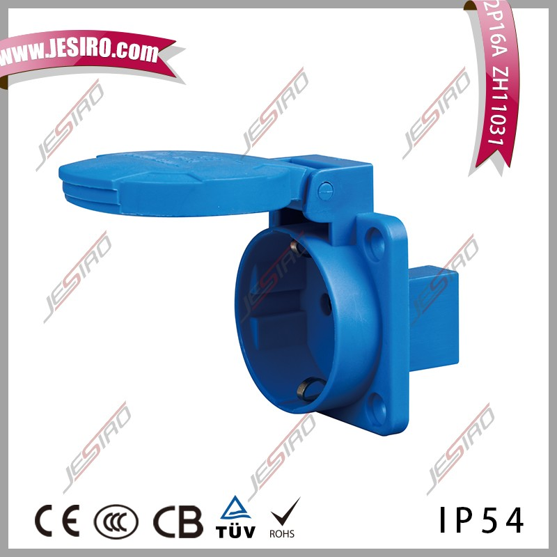 IP54 16a schuko socket with VDE Certificate