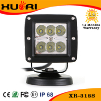 Off road worklight super bright led driving light 4x4 18w led work lamp 6000k white led road work light