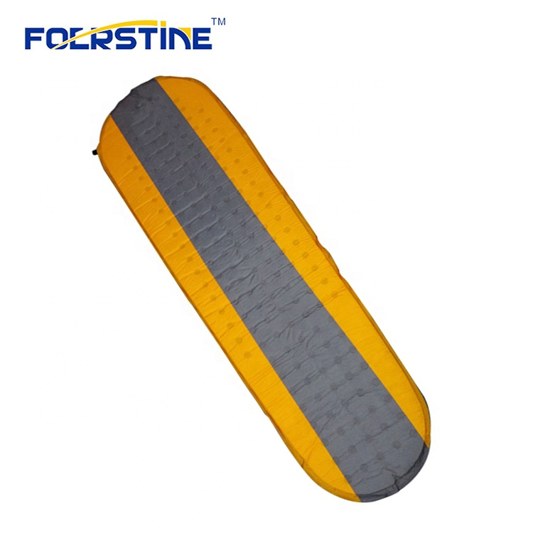 Wholesale 75D Polyester PVC Camping Traveling Quick Self-Inflating Sleeping Pad