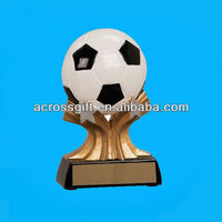 shooting star resin soccer trophy