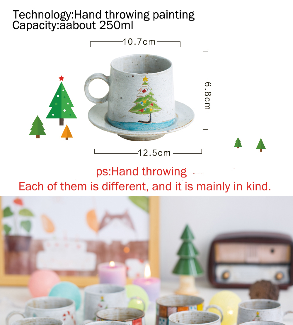 High quality various models factory direct handmade coarse pottery antique  christmas gifts for teenagers mugs