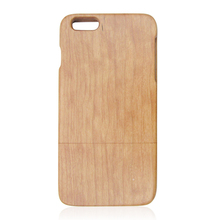 Cherrywood two parts wooden case for iphone6 plus, pure wood mobile phone case, blank wooden back case for iphone6 plus