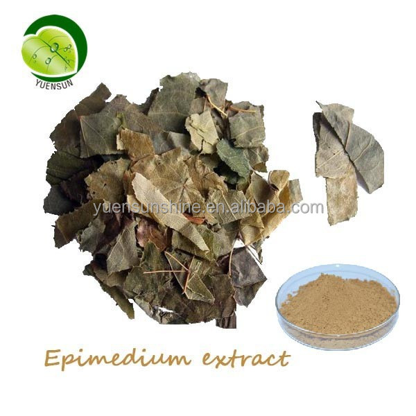 natural Epimedium leaf extract powder/pure Icariin Epimedium extract