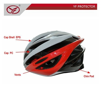 In-mold cycle helmet,standard bike helmet,bike safety helmet for teenager