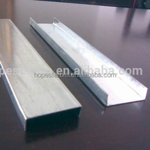 building material supplier stainless steel U channel steel wall stud sizes
