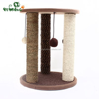 Newly customized cat scratching post cat tree