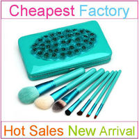 7pcs cheap professional cosmetic kit with china makeup brush for girls