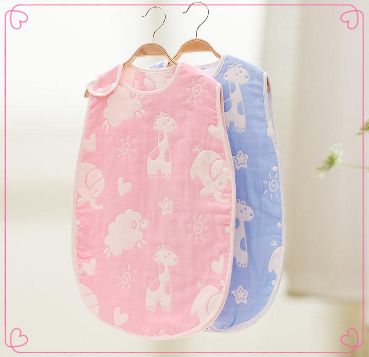 Breathable Infants sleeping sack cotton muslin sleeping bag