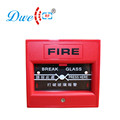 red color fire alarm push button switch 12V plastic material