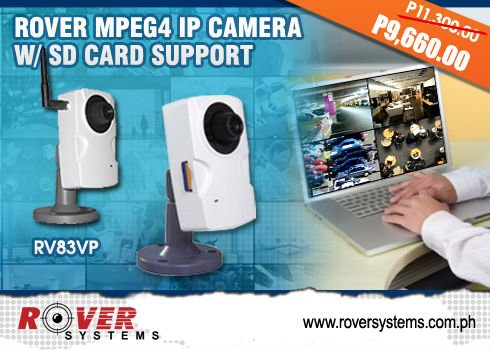 CCTV - Rover MPEG4 IP CAMERA with SD CARD SUPPORT