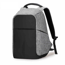 Newly Custom Design Laptop Canvas Men Multifunctional Anti theft Backpack