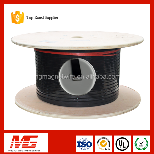 China professional 0.8mm rectangular enamelled aluminum magnet wire for transformer winding
