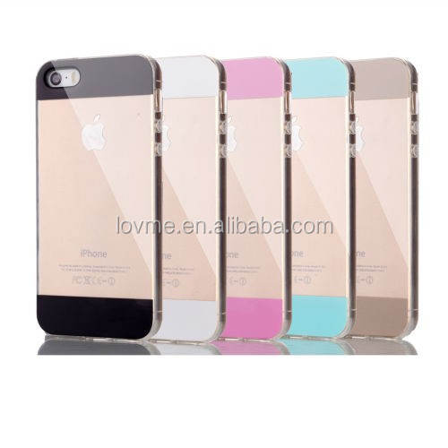 Ultra Slim Soft Clear Silicone Gel TPU Case For iPhone 5 5s