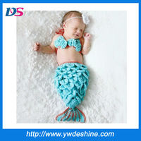 Wholesale photo prop mermaid costume crochet baby hat mz-888