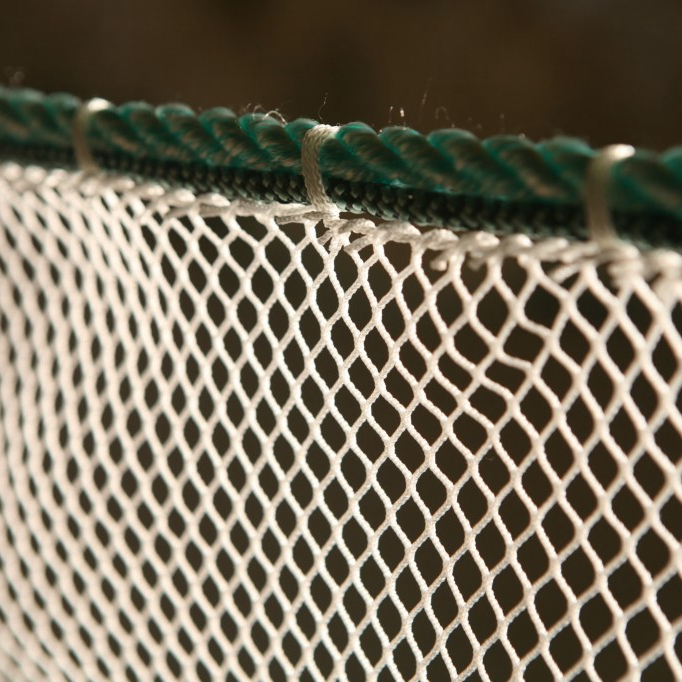 Nylon knotless rope net for sport caurt or airport