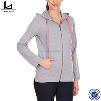 Zip up at center front gray women clothing fleece women hoodie pullover casual hoodie
