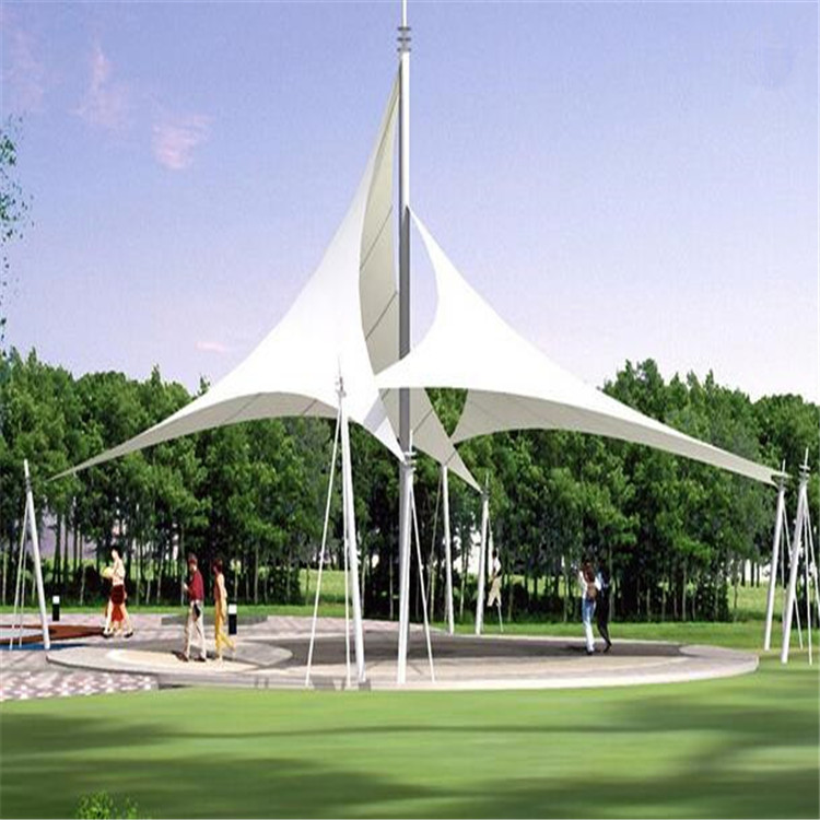 beautiful architecture membrane fabric roof canopy shade for square landscape