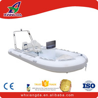 Aluminum rib Inflatable boat with outboard