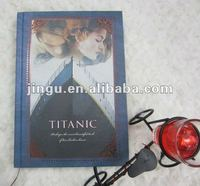 Notebook printing Titanic movie with hard back