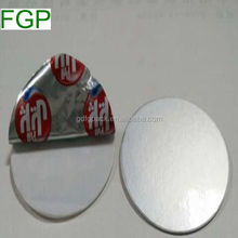 Aluminum foil paper induction seal liner/wad two piece seal liner with paperboard from Guangdong China factory