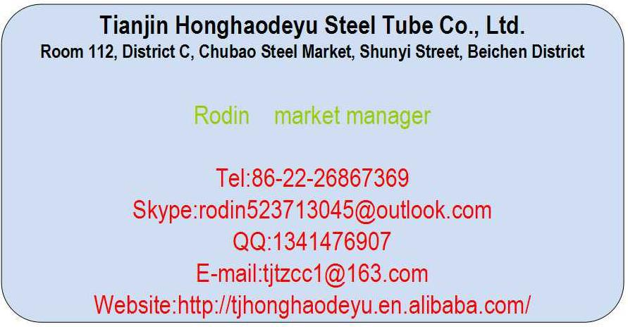 HOT DIP GALVANIZED Steel Pipe 0.5mm thickness