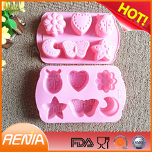 RENJIA moon shaped ice cube tray unbreakable ice cube tray big ice cube tray