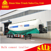 china manufactured 3 axles 55 cubic meters cement bulker trailer with single compartment