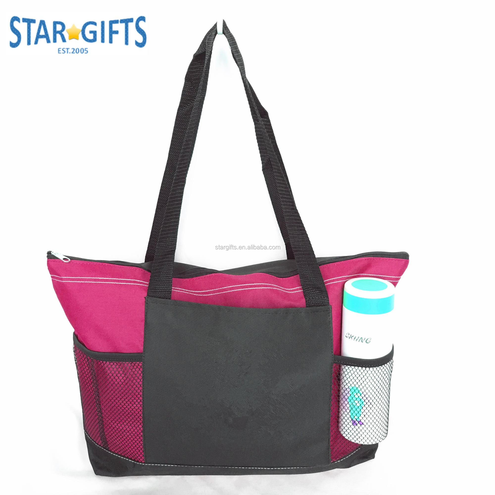 Zip Lock Top Large Fashion Daily Tote Work Bag For Office