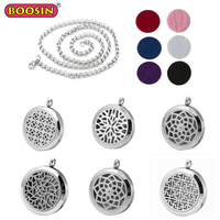 Stainless Steel Diffuser Jewelry Aroma Aromatherapy Necklace Aroma Diffuser pendant