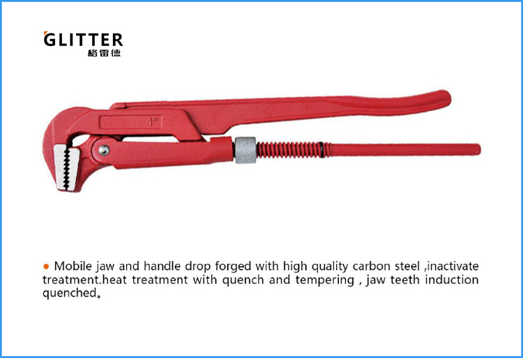 BTP07 90 Degrees Heavy Duty Swedish Pipe Wrench