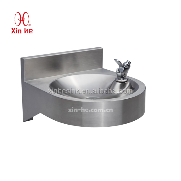 Stainless Steel Drinking Fountain with Tap, Wall Hung Wall Mounted 304 Stainless Steel Vandal Resistant Drinking Fountains