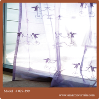 100% polyester Embroidery Fabric Curtains textile raw material for curtains