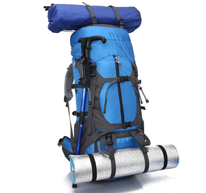 big capacity nylon light weight waterproof backpack 60l camping mountain climbing backpack