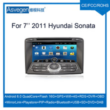 Wholesale android car dvd player for 7'' Hyundai Sonata 2011 navigation car dvd gps support playstore,4G,wifi