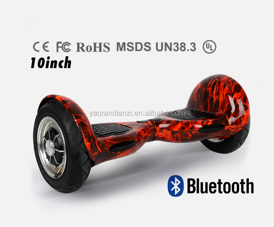 Bluetooth 10 inch 2 wheel hoverboard smart electric scooter balance hoverboard 10 inch