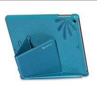 Luxury elegant flower pattern stand leather flip case for Ipad air cases