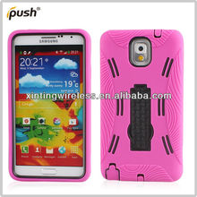 PC+Silicone Phone Case For Samsung Galaxy Note3,Mobile Phone Case Combo Cover For Samsung Note 3
