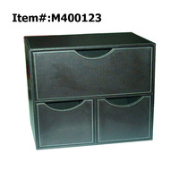 Customer Desktop 3 Drawer Leather Desk Organizer