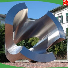 Modern style large stainless steel abstract sculpture , art sculptures for outdoor decoration